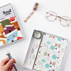 Home Simply - Gift Set: 100-day Scheduler + Masking Tape + Pen