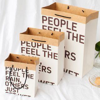 Literalism - Lettering Paper Gift Bag