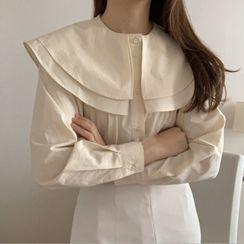 Bakli - Peter Pan Collar Plain Shirt
