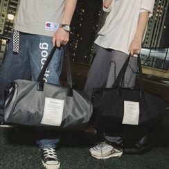 SUNMAN - 标签贴布绣尼龙手提包