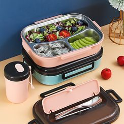 Worthbuy - Stainless Steel Divided Lunch Box