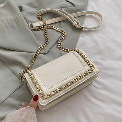 FINO - Faux Leather Chained Crossbody Bag