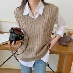 Envy Look - Cable-Knit Vest