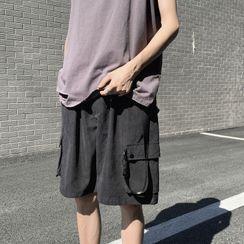 Artistman - Drawstring Cargo Shorts