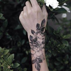 HANZ HAZEL(ハンズヘイゼル) - Flower Waterproof Temporary Tattoo
