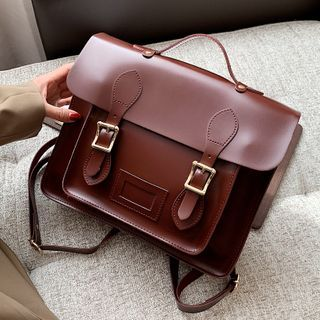 Beebird - Faux Leather Satchel Backpack