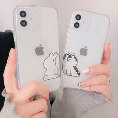 Primitivo - Cat Phone Case - iPhone 12 Pro Max / 12 Pro / 12 / 12 mini / 11 Pro Max / 11 Pro / 11 / SE / XS Max / XS / XR / X / SE 2 / 8 / 8 Plus / 7 / 7 Plus