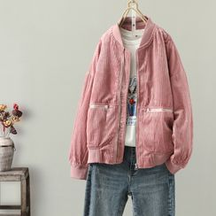Elisah - Corduroy Zip-Up Jacket