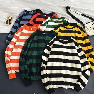 POSI - Couple Matching Striped Sweatshirt