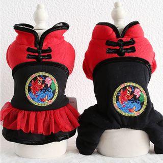 Puppy Love - Retro Chinese Pet Dress /  Pet Top