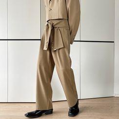 VEAZ - Lace-Up Straight Leg Dress Pants
