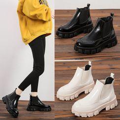Wello - Platform Short Chelsea Boots