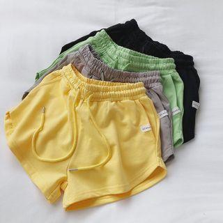mochigome - Drawstring-Waist Wide-Leg Shorts