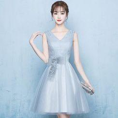Mar de Amor - Sleeveless Short Prom Dress