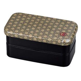 Hakoya - Hakoya Nunobari Rectangular 2 Layers Lunch Box S Asanoha