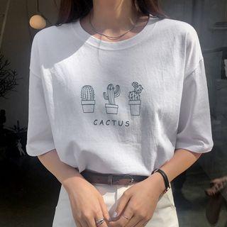 Envy Look - Cactus Print T-Shirt