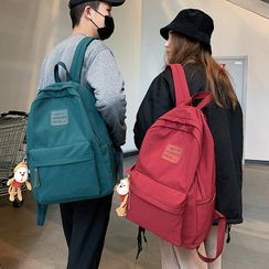 KAMELIS - Letter Patch Nylon Backpack