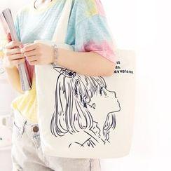 Canvas Love - Printed Canvas Tote Bag
