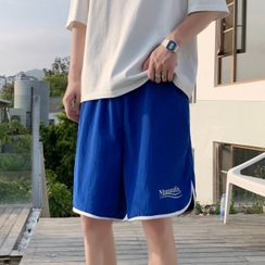 SuperLittle - Lettering Wide-Leg Shorts