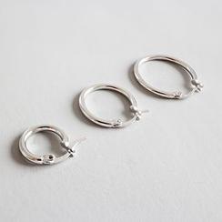 Phoenoa - 925纯银迷你圈环耳环