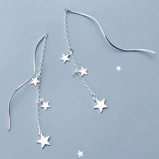 A'ROCH - 925 Sterling Silver Star Spiral Threader Earrings