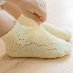 Knit a Bit(ニットアビット) - Kids Set of 3: Pointelle Knit Socks