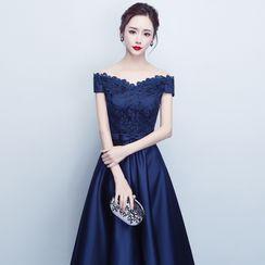 LEFFA - Off-Shoulder A-Line Cocktail Dress / Evening Gown