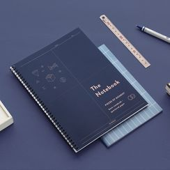 iswas - ''Iconic'' Series B5 Spring Grid Notebook - (M)