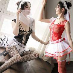 Shakita - 無袖薄紗內衣連衣裙