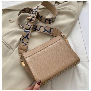 Shimme - Croc Grain Crossbody Bag