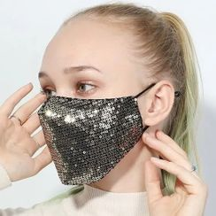 Evora - Sequin Cotton Mask