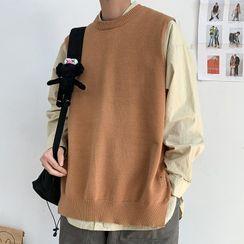 YERGO - Plain Knit Vest