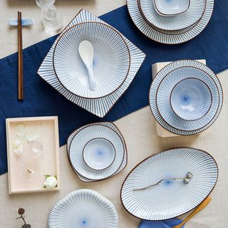 Modern Wife - Patterned Ceramic Plate / Bowl / Spoon / Food Tray