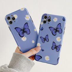 Aion - 蝴蝶印花手机保护套 - iPhone 11 Pro Max / 11 Pro / 11 / XS Max / XS / XR / X / 8 / 8 Plus / 7 / 7 Plus / 6s / 6s Plus
