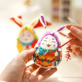 Embroidery Kingdom - Rabbit Amulet DIY Embroidery Kit
