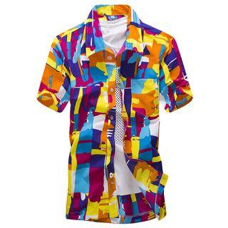 Carser - Short-Sleeve Print Shirt