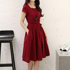 Romantica - Short-Sleeve Skater Dress