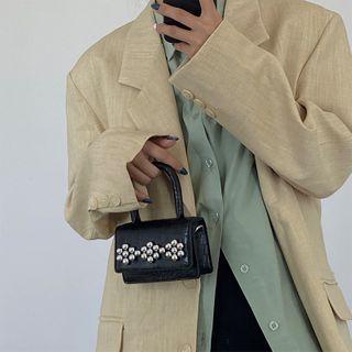 NiniChloe - Mini Beaded Flap Handbag
