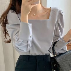 KiTi - 方领灯笼袖衬衫