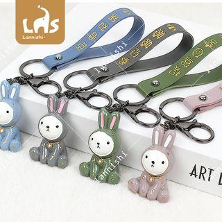 Coomui - Rabbit & Hand Strap Keyring