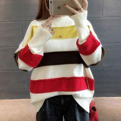 Champi - Colour Block Long-Sleeve Sweater