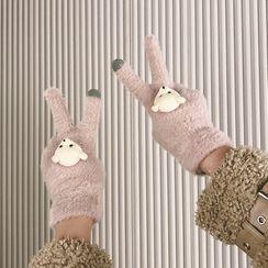 Chimi Chimi - 小熊触屏抓毛手套