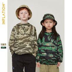 Wolandorf - Kids Camo Hooded Light Windbreaker