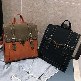 Selinda - 仿皮拼接背包