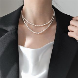 MOMENT OF LOVE - Freshwater Pearl  Choker (various designs)
