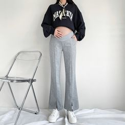 Empressa(エンプレッサ) - Maternity Boot-Cut Slit Pants
