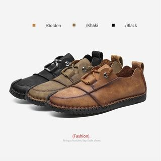 NOVO - Lace-Up Faux Leather Shoes