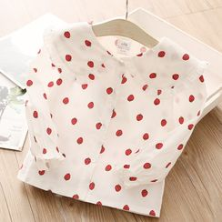 贝壳童装 - 小童草莓印花衬衫