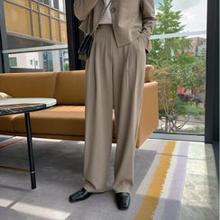 UPTOWNHOLIC - Formal Baggy-Fit Dress Pants