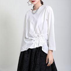Ultra Modern - Asymmetrical Shirred T-Shirt